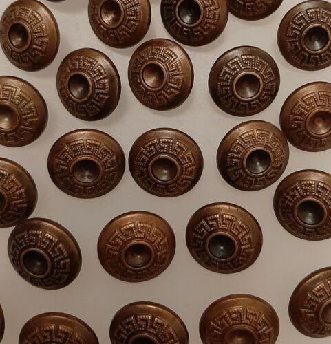NL772p 10 x 15mm Antique Brass Greek Style Centre Round Plastic Shank Buttons