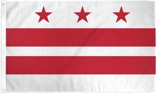 Washington DC Capital District of Columbia United States America USA Banner Flag