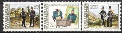 Briefmarken Geschichte Liechtenstein Nr.1020/22 ** Militär 1991 Postfrisch Angenehm Im Nachgeschmack
