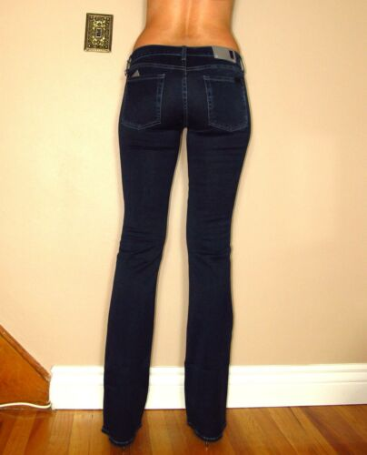 7 Rich Nuovo Scuri Svasati Donna Jeans Mankind All Aderente Gomma In For OqZwqFCd