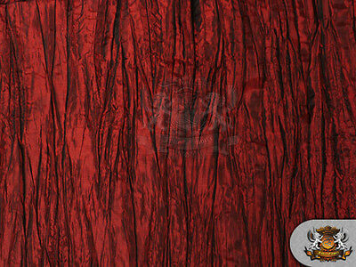 "Taffeta Crushed BURGUNDY 49"" wide / Sold by the Yard"