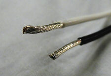 16 AWG Teflon Type E Silver Plated Twisted Pair White Black M16878/4 10' lengths