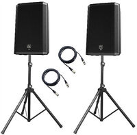 """2 x Electrovoice ZLX15P 2 Way 1000W 15"""" Powered Speaker DJ Disco PA Sound System"""