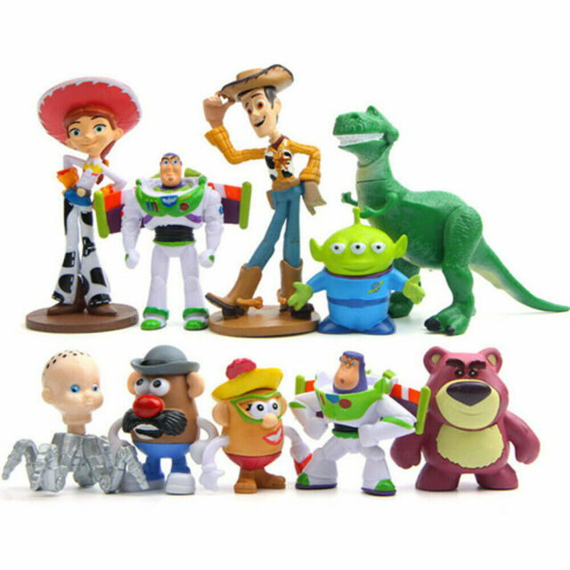 Toy Story Woody Buzz Lightyear Movie 9PCS Action Figure Kid Toy Gift Cake Topper