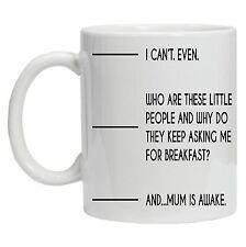 Funny Coffee mug. Fill to line 2, Mum Is Awake. Funny design Gift for Mum Mam
