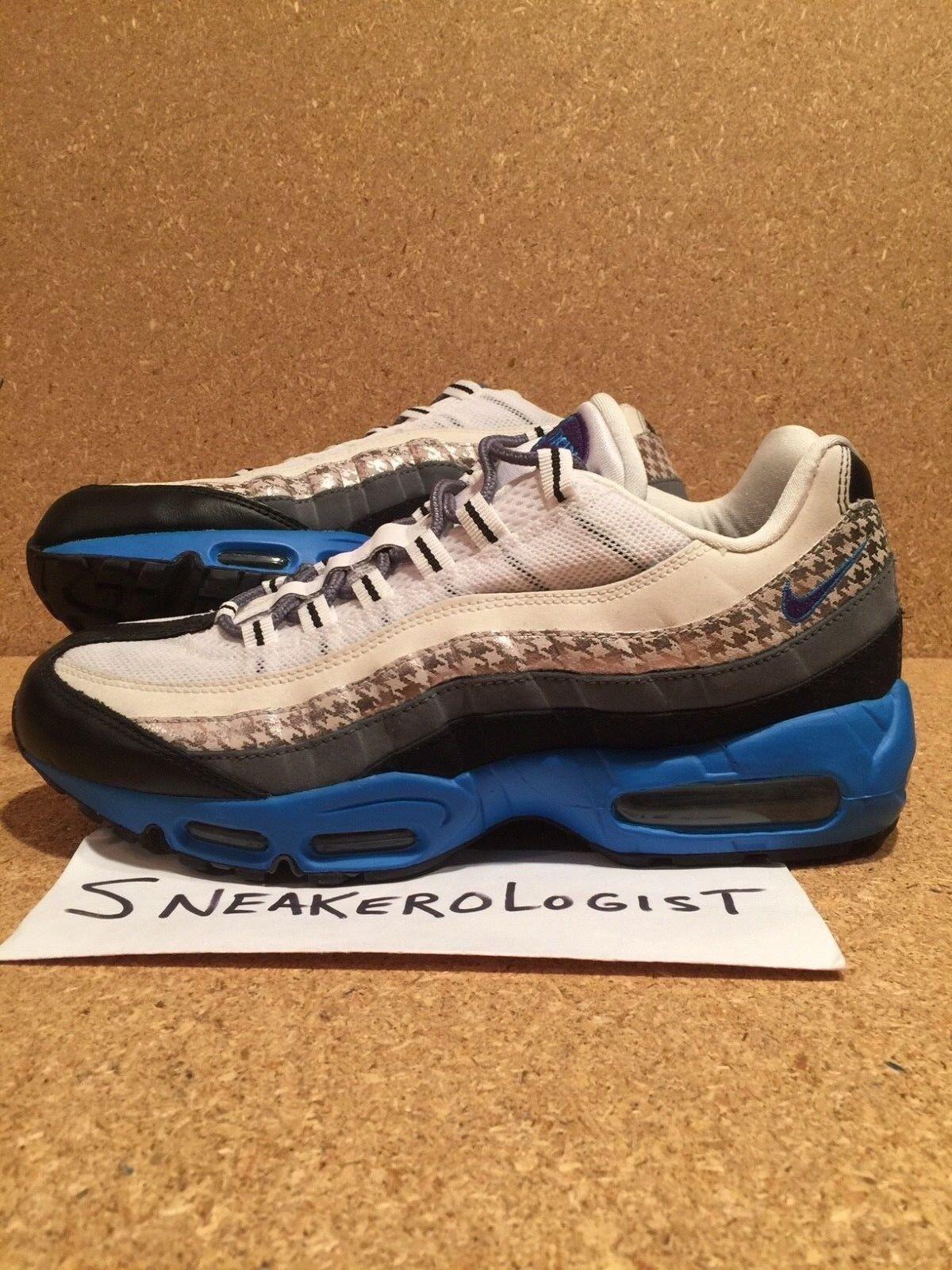 Nike air max 95 sz schwarz 9,5 houndstooth pack weißer violett, grau - schwarz sz 2008 le selten qs 5cfff6