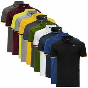 Polo K-Way Vincent Contrast Slim Fit maglia manica corta t-shirt uomo K008J50