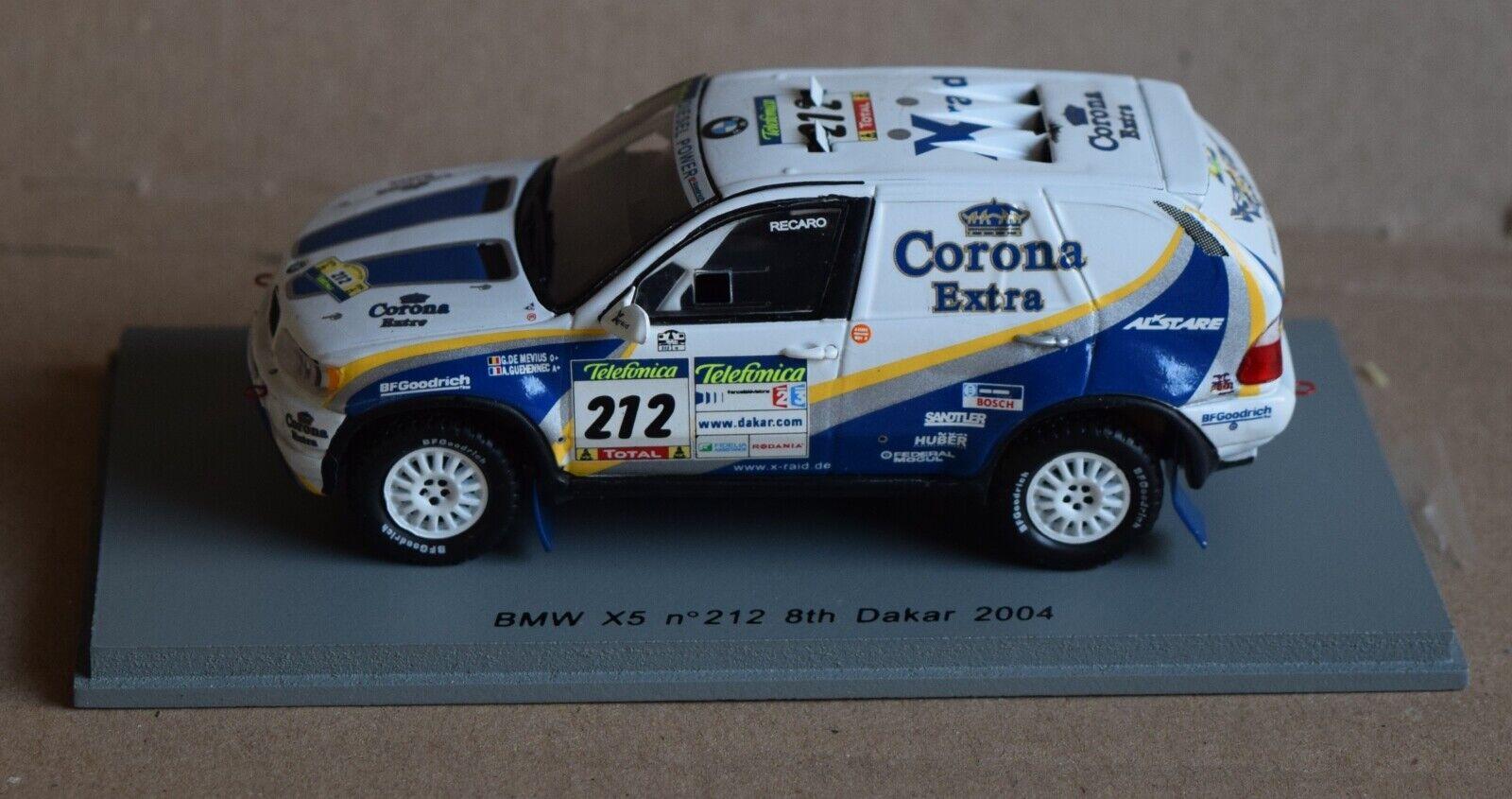 BMW x5; Dakar 2004; CorNA EXTRA; nº 212; de meyius, Guehennec; Spark; 1 43