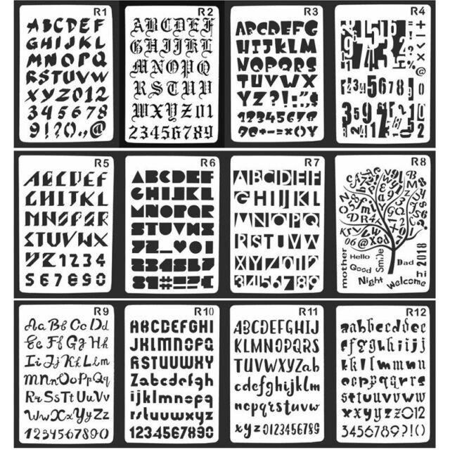 Lettering Stencil Letter Alphabet Stencils Painting Paper Craft Number Lettering