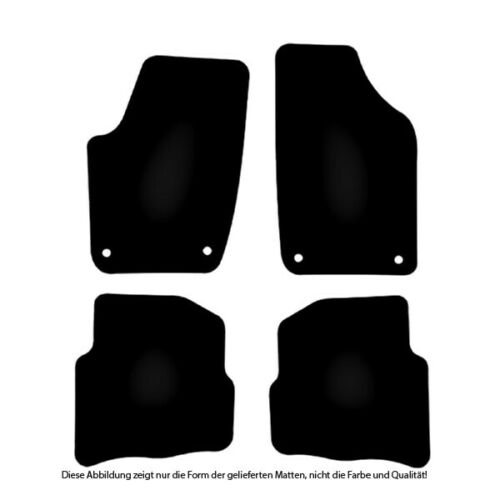 AUTO-TAPPETINI Exclusiv BLACK per VW Polo 9n 9n3 2001-2009 Bef Oval