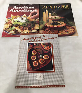 3 Cookbooks Vtg - Appetizers, Anytime Appetizers, Appetizers & Hors D'Oeuvres