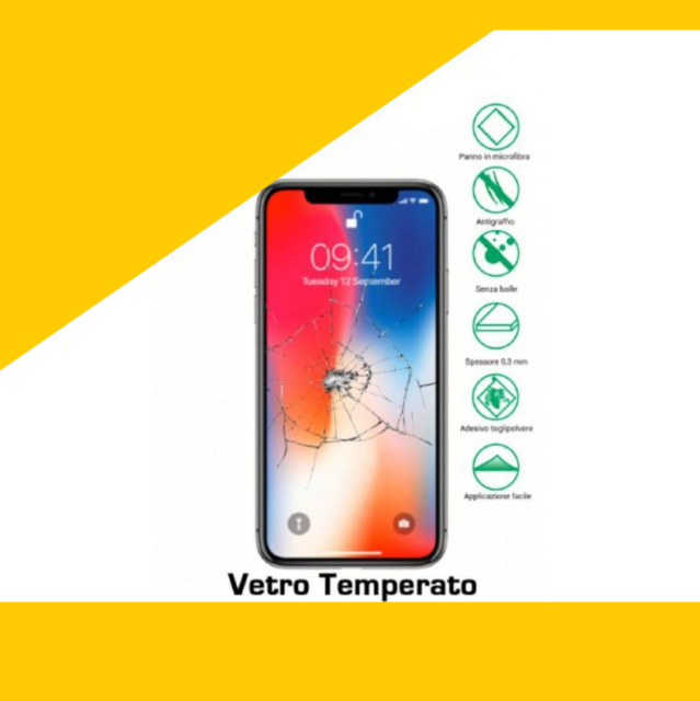 Pellicola in vetro temperato iphone 5/6/7/8/X/XS/XSMAX/Xr/ protezione schermo