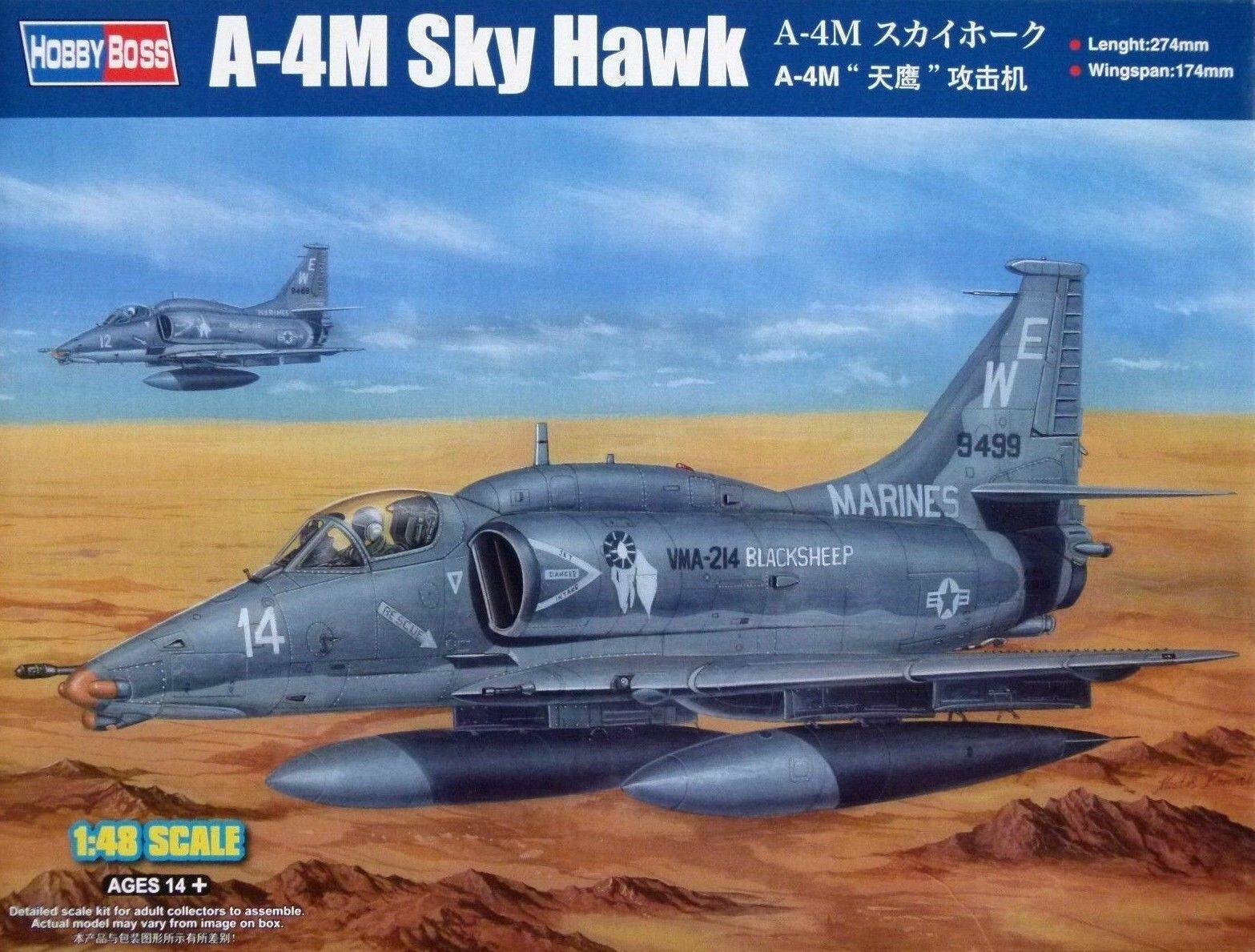 Hobbyboss 1 48 A-4M Skyhawk Aircraft Model Kit
