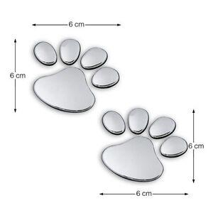 Silver-Bear-Paw-Pet-Animal-Footprints-Emblem-Car-Truck-Decor-3D-Sticker-Decal