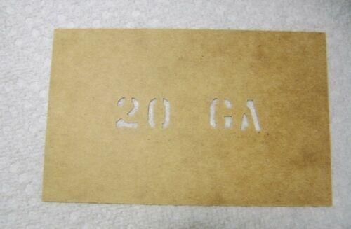20 GA Custom Ammo Can Stencil