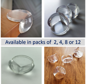 8 Available in Packs of 2 12 Clear Baby Proof Table Corner Edge Protector 4