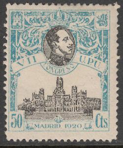 Congres-U-P-U-306-50-C-Bleu-Celeste-Annee-1920-MH