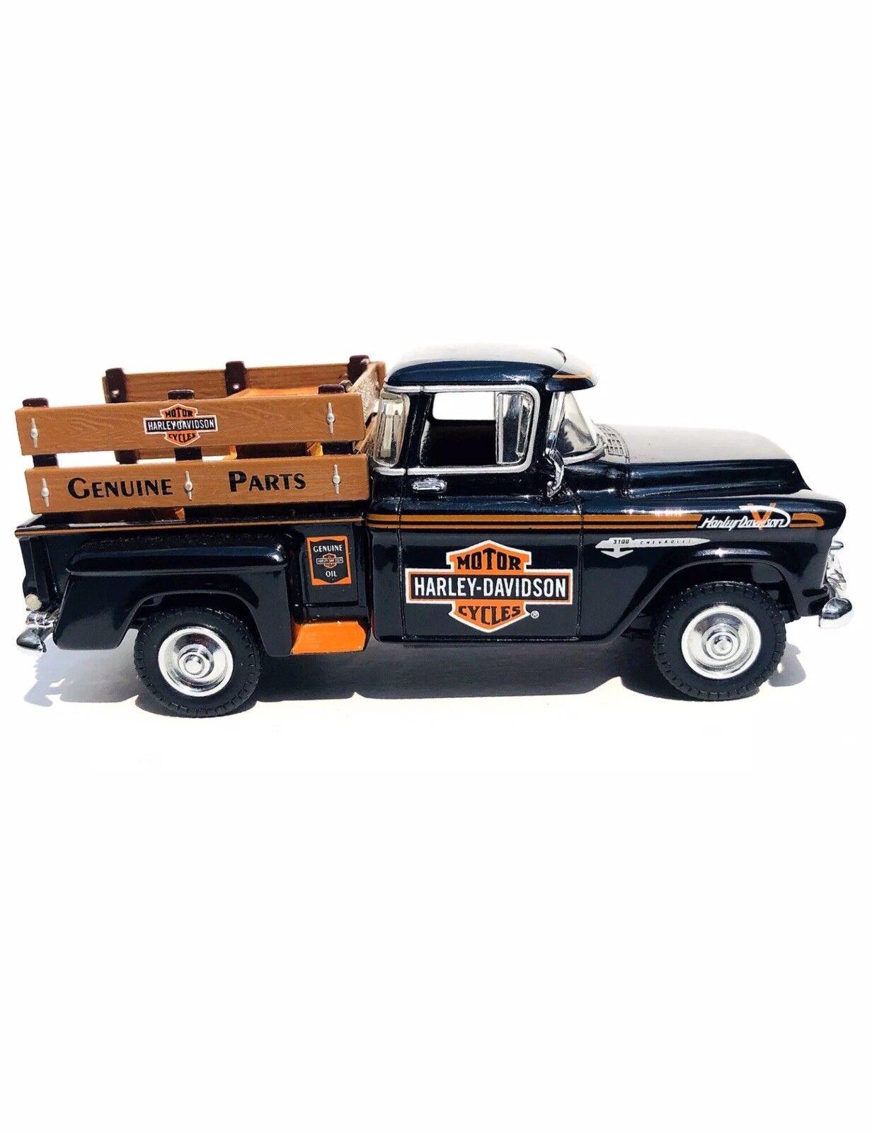 Raro  1955 Harley Davidson Chevy Pick-up Matchbox Collectibles 1 43 Escala