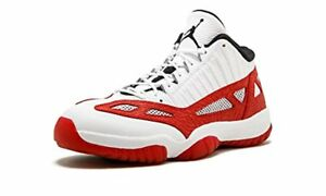 de2e37172b79 Air Jordan Mens 11 Retro Low Ie Basketball Shoes White Gym Red Black ...