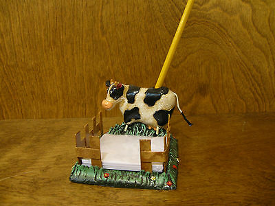"New From Retail Store By Ranger 2.825"" Cow Memo Holder #4605-4 Decorative Collectibles Collectibles"