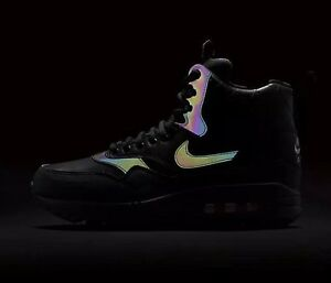 newest 8ef3c a732d Image is loading Nike-Air-Max-1-Mid-Sneakerboot-Reflect-Black-