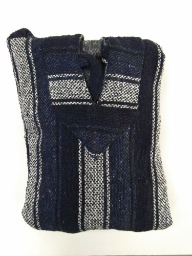 Mexican Poncho Baja Hoodie Surfer Skater Drug Rug Pullover Made in Mexico UNISEX