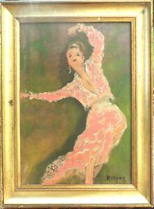 danseuse . huile /toile  -  - signé  BERGEN