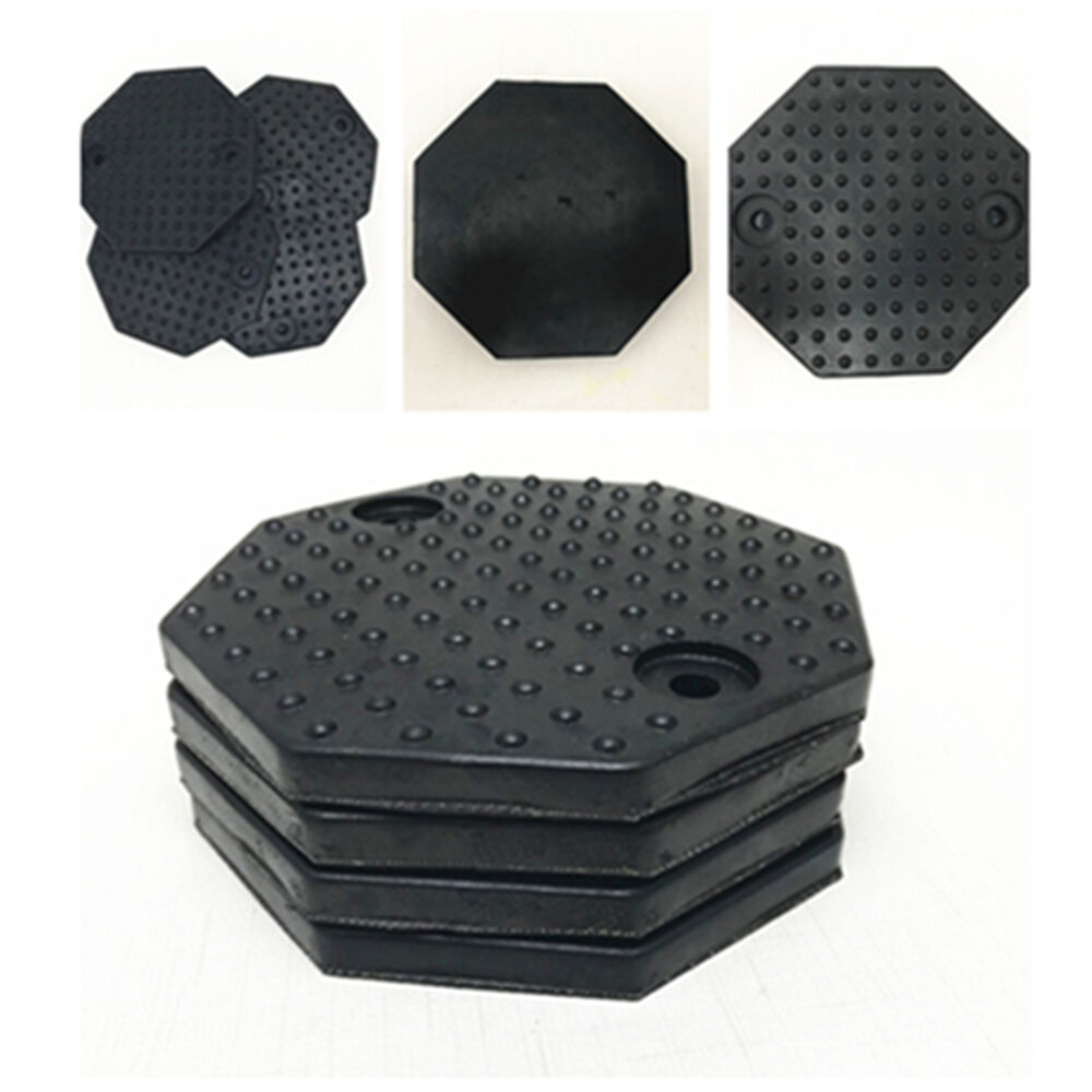 Car Auto Jacking Lift Pads 4 Pcs Car Round Rubber Arm Pads Auto Jacking Lift Pads Weightlifter Accessories