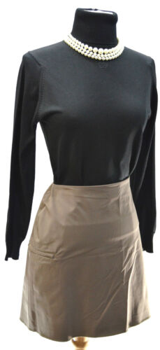 il ginocchio dritta Penna 12 Dkny Stretch Zipper New Carriera L sopra Taglia Brown Skirt nw6qTvz