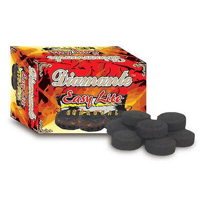 100 PCS DIAMANTE Hookah Charcoal Easy Lite Shisha coal