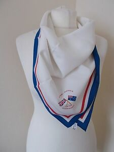 Women-039-s-Red-White-Blue-Britain-Australia-Bi-Centenary-Scarf-27-inch-square