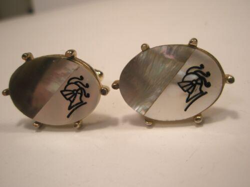Armored Knight Vintage Cuff Links helmet gift
