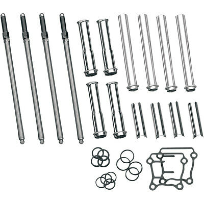 S&S Cycle Adjustable Pushrod Kit w/ Covers for 1999-2016 Harley Twin Cam