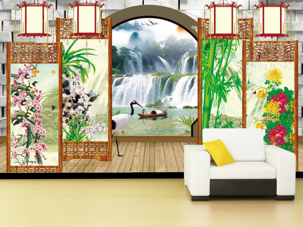 3D Waterfall Scape 97 Wallpaper Mural Wall Print Wall Wallpaper Murals US Carly