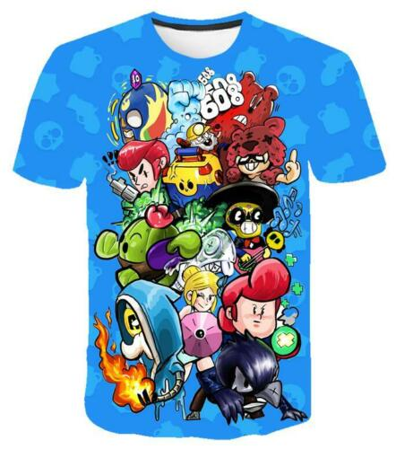 New Kinder Erwachsene Jungs Mädchen Sommer mit kurzen Ärmeln T-Shirt Browl-starr