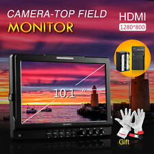 """Feelworld 10.1"""" IPS HD Camera Video Monitor 1280*800 + Battery Pack +Gift"""