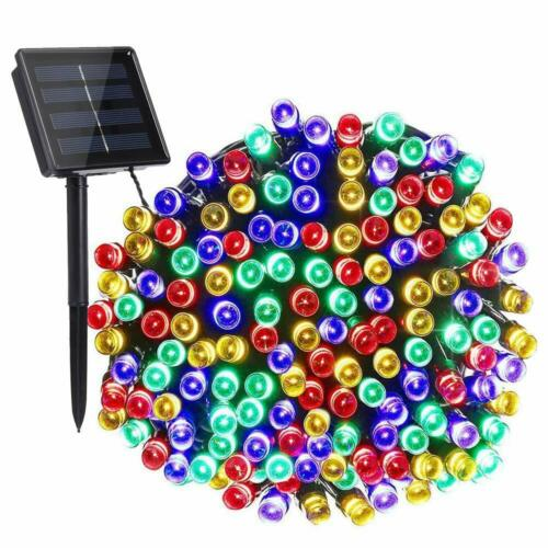 100//200 LED Solar String Fairy Lights 8 Mode Waterproof Outdoor Party Decoration