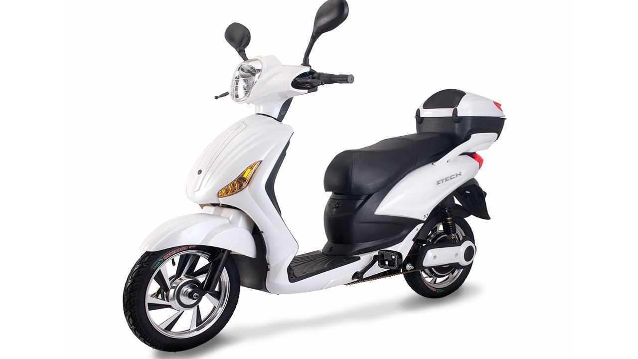 Litio A Batteria 250w Z Tech Elettrico Scooter Bici 350w Bauletto