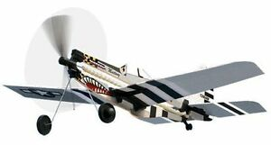 P 51 Mustang Rubber Band Powered Model History Plane Kit