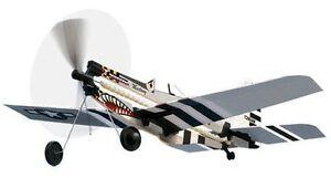 P-51 Mustang Rubber Band Powered Model History Plane Kit: Lyonaeec 12604