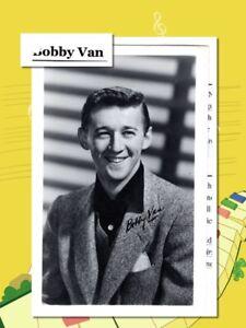 Bobby-Van-Musical-actor-singer-amp-Dancer-Printed-autograph-7927