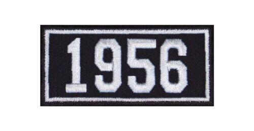 1956 Biker Patch ricamate anni numero anno di nascita BIRTH year ROCKER MOTO MC
