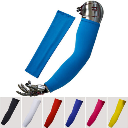 US Shipper 1 Pair New Outdoor Sports UV Rays Protection Cooling Arm Sleeves