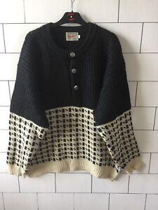 grande retrò Pullover in 117 norvegese vintage lana stile Shetland maglione vfqS8