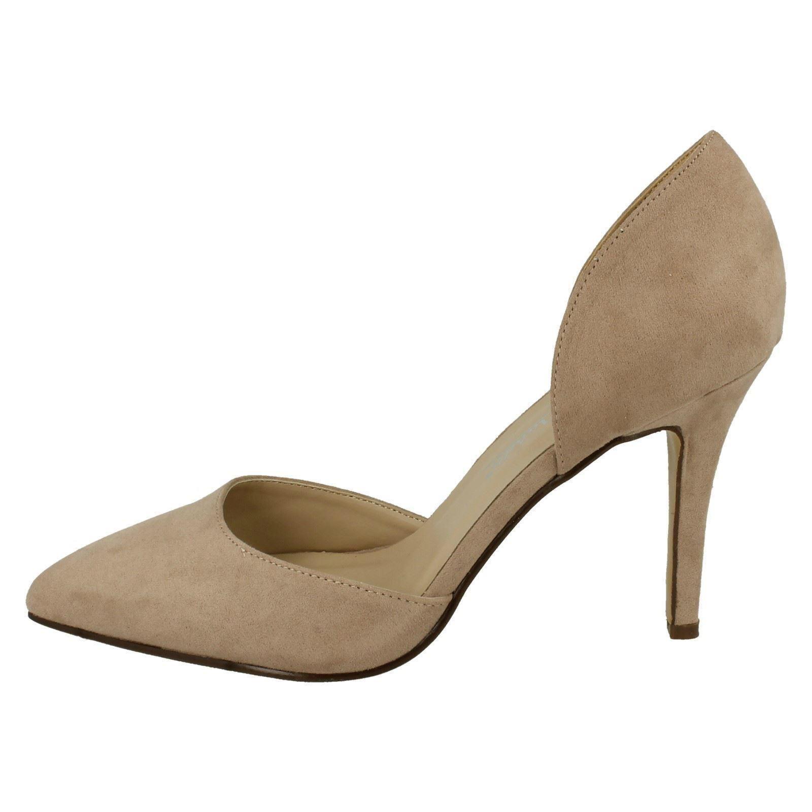 Anne Michelle Shoes F9914 Ladies Nude/Microfibre Court Shoes Michelle to 7 (R21A) afc835