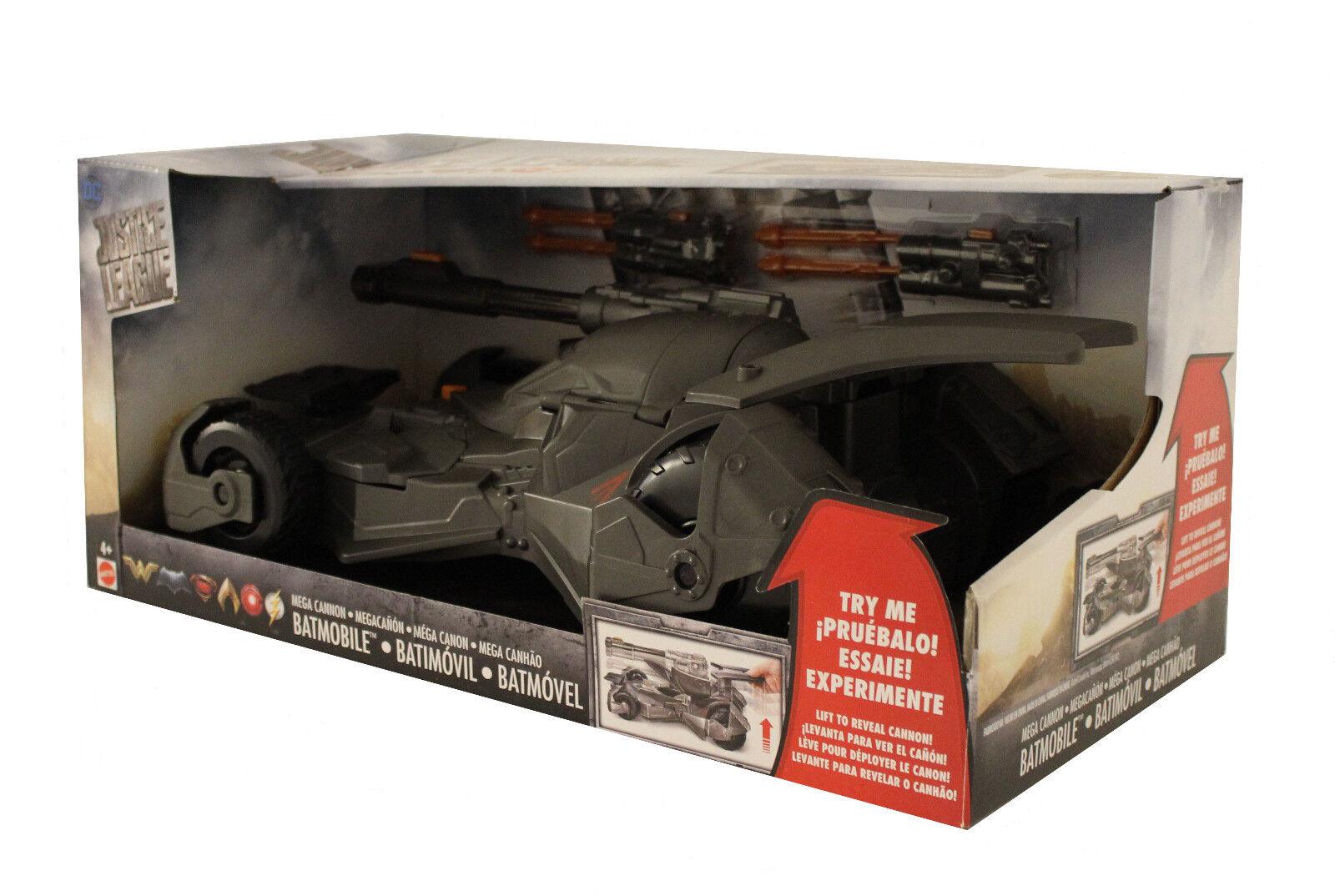 Mattel DC Justice League Megakanonen Batmobil für 15 cm Figuren FGG58