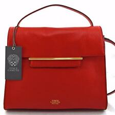 NWT AUTHENTIC VINCE CAMUTO LEATHER GROUP ASTER CARDINAL RED SATCHEL BAG-$258