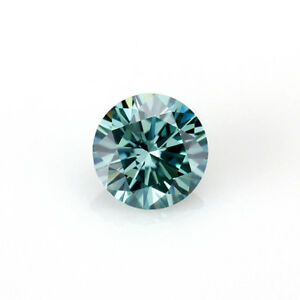 57ad9af5662a8 Details about 0.23 Ct Round Cut Moissanite Fancy Dark Green 4mm Diameter  Loose Stone C&C