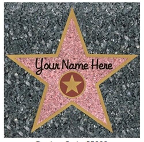 Large Walk Of Fame Star Decal Shindigz