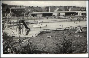 LAGERDORF-Holstein-1960-AK-gelaufen-Badeanstalt-Motiv